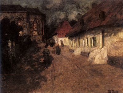 Thaulow Frits Midnight Mass