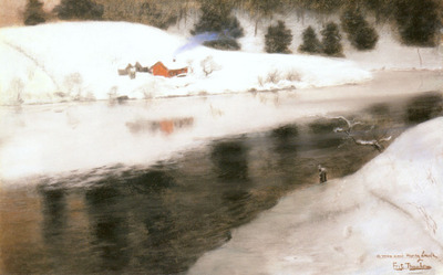 Thaulow Fritz Winter At Simoa River