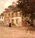 Thaulow Frits A Village Street In France