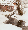 Thaulow Fritz Winter On The Isle Of Stord