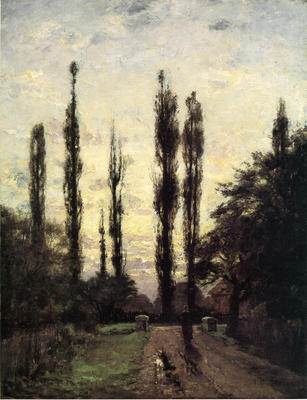Steele Theodore Clement Evening Poplars