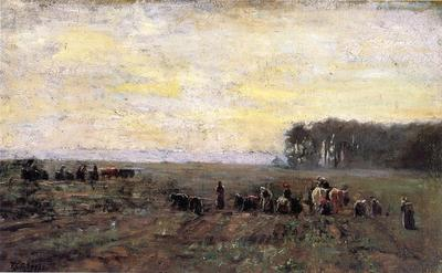 Steele Theodore Clement Haying Scene