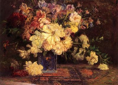 Steele Theodore Clement Still Life with Peonies