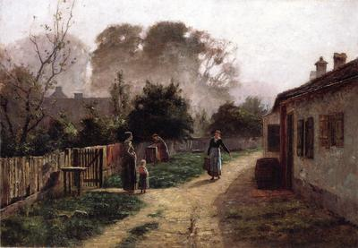 Steele Theodore Clement Village Scene