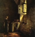 Steele Theodore Clement A Corner in the Old Kitchen of the Mittenheim Cloister