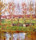 Steele Theodore Clement Cows by the Stream