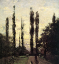 Steele Theodore Clement Evening Poplars