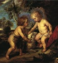 Steele Theodore Clement The Christ Child and the Infant St  John after Rubens