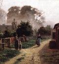 Steele Theodore Clement Village Scene