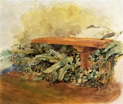 Robinson Theodore Garden Bench with Ferns