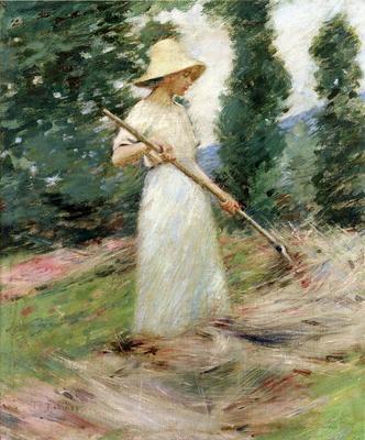 Robinson Theodore Girl Raking Hay
