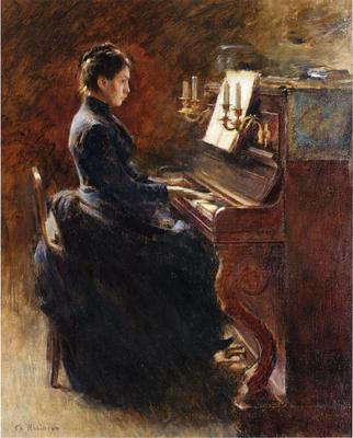 Robinson Theodore Girl at Piano