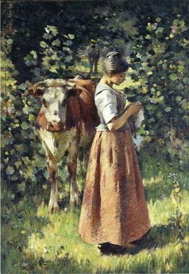 Robinson Theodore The Cowherd
