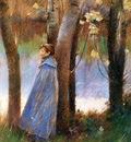 Robinson Theodore Figure in a Landscape