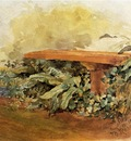 Robinson Theodore Garden Bench with Ferns