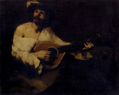 Ribot Theodule Augustin The Mandolin Player