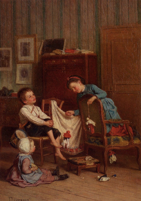 Duverger Theophile Emmanuel The Puppet Show