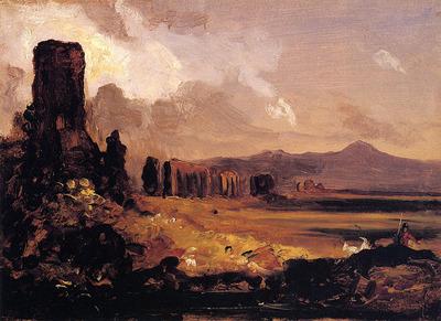 Cole Thomas Campagna di Roma study for Aqueduct near Rome
