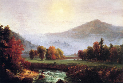 Cole Thomas Morning Mist Rising Plymouth New Hampshire A View in the United States of American in Autunm