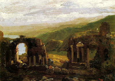 Cole Thomas The Ruins of Taormina sketch