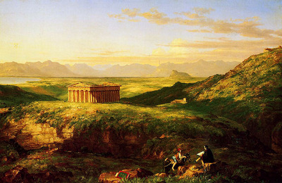 Cole Thomas The Temple of Segesta with the Artist Sketching