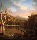 cole thomas lake with dead trees catskill