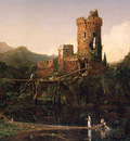 Cole Thomas Landscape Composition Italian Scenery