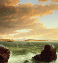 Cole Thomas View Across Frenchman s Bay from Mount Desert Island After a Squall