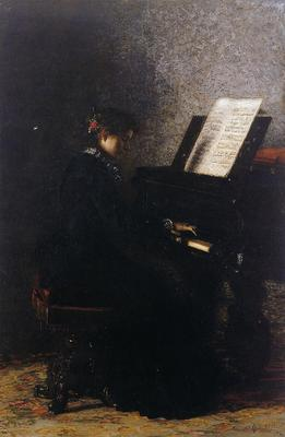 Eakins Thomas Elizabeth at the Piano