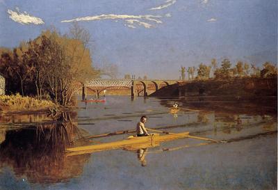 Eakins Thomas Max Schmitt in a Single Scull