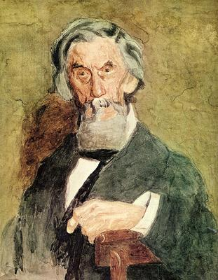 Eakins Thomas Portrait of William H  MacDowell unfinished