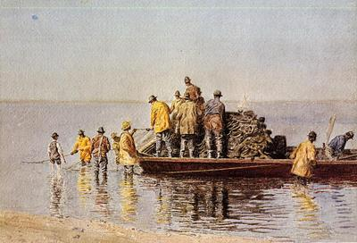 Eakins Thomas Taking up the Net
