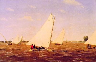 Sailboats Racing on the Deleware