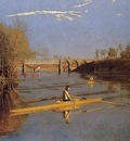 Eakins Thomas Max Schmitt in a Single Scull