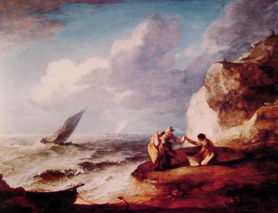 A Rocky Coastal Scene