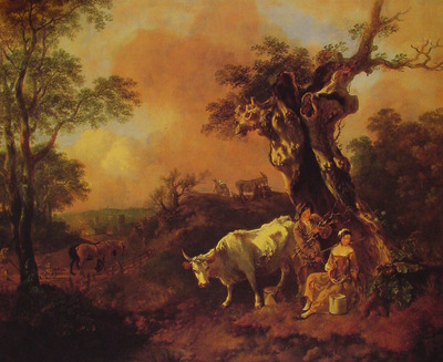 Landscape with a Woodcutter and Milkmaid