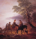 Open Landscape with Mounted Peasants