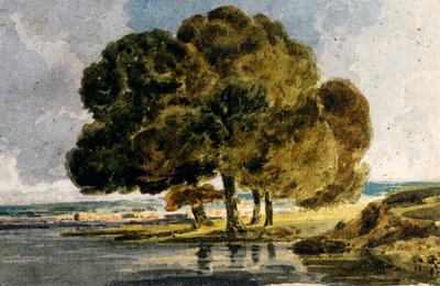 Girtin Thomas Trees On A Riverbank