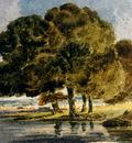 Girtin Thomas Trees On A Riverbank