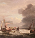 Luny Thomas Dutch Barges In Open Seas
