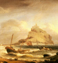 Luny Thomas Fishermen Rowing In Before St Michaels Mount