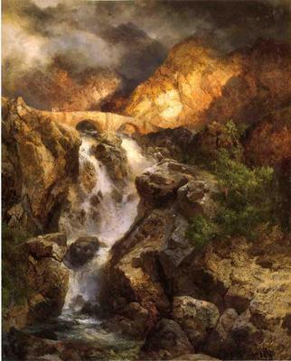 Moran Thomas Cascading Water