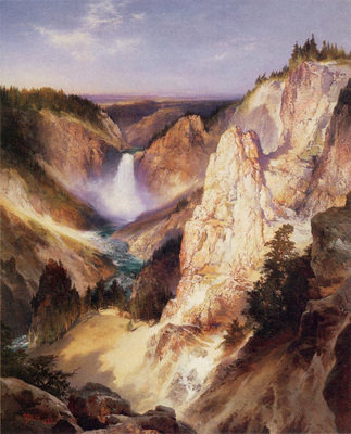 moran thomas great falls of yellowstone