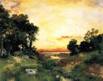 Moran Thomas Sunset Long Island Sound