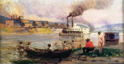 Anschutz Thomas P Steamboat on the Ohio2