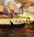 Anschutz Thomas P Steamboat on the Ohio