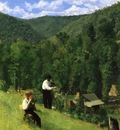 Anschutz Thomas P The Farmer and His Son at Harvesting