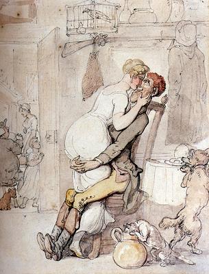 Rowlandson Thomas A Kiss In The Kitchen