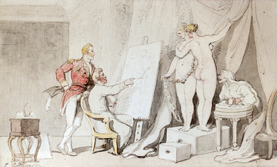 Rowlandson Thomas A Study In Life Drawing