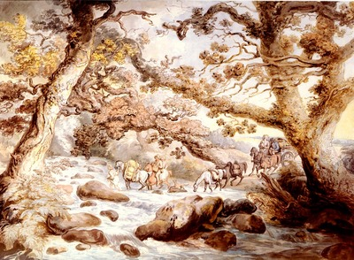 Rowlandson Thomas Fording The River Camel Cornwall